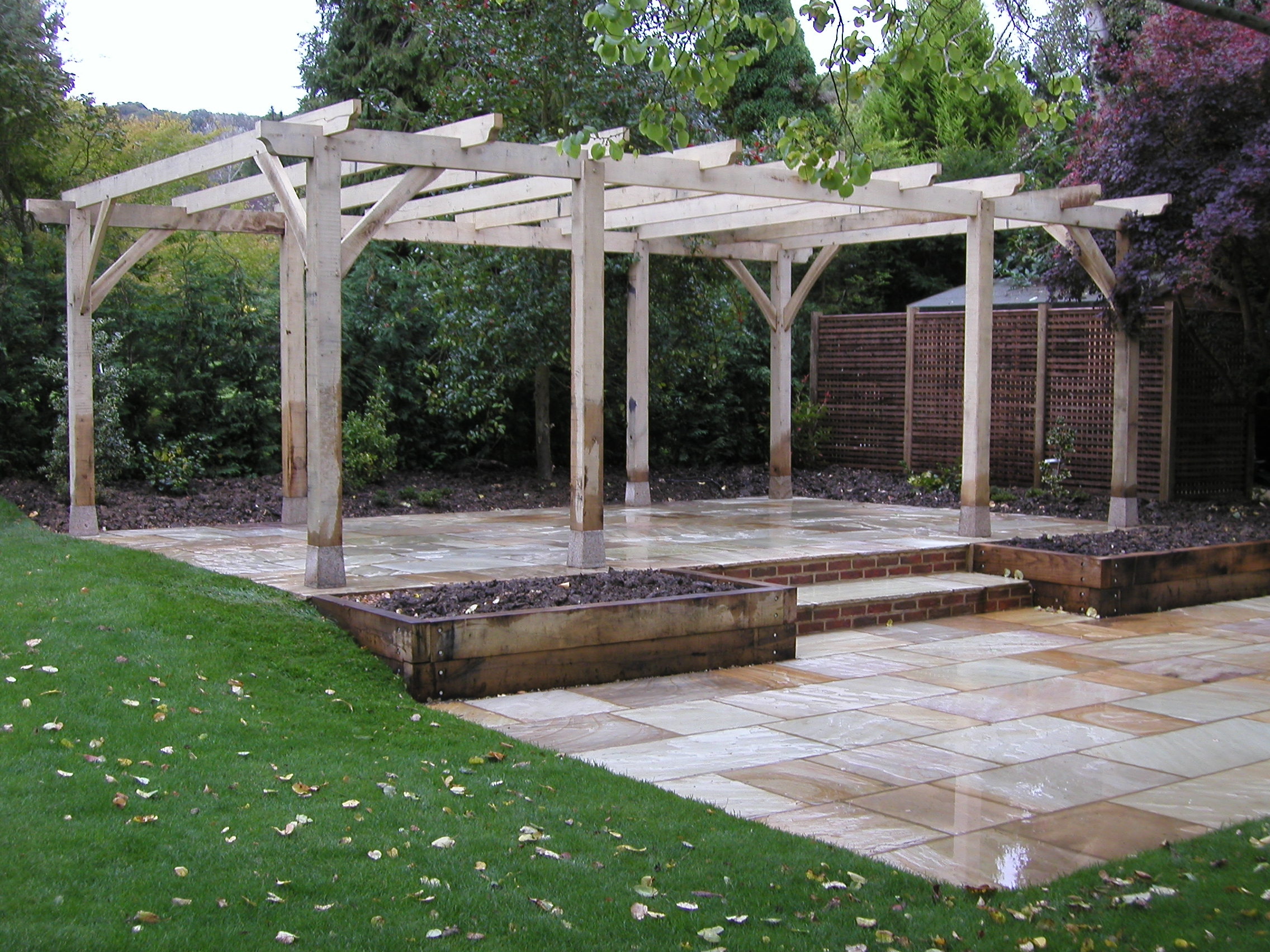 adl timber structures pergolas garden landscaping. Black Bedroom Furniture Sets. Home Design Ideas