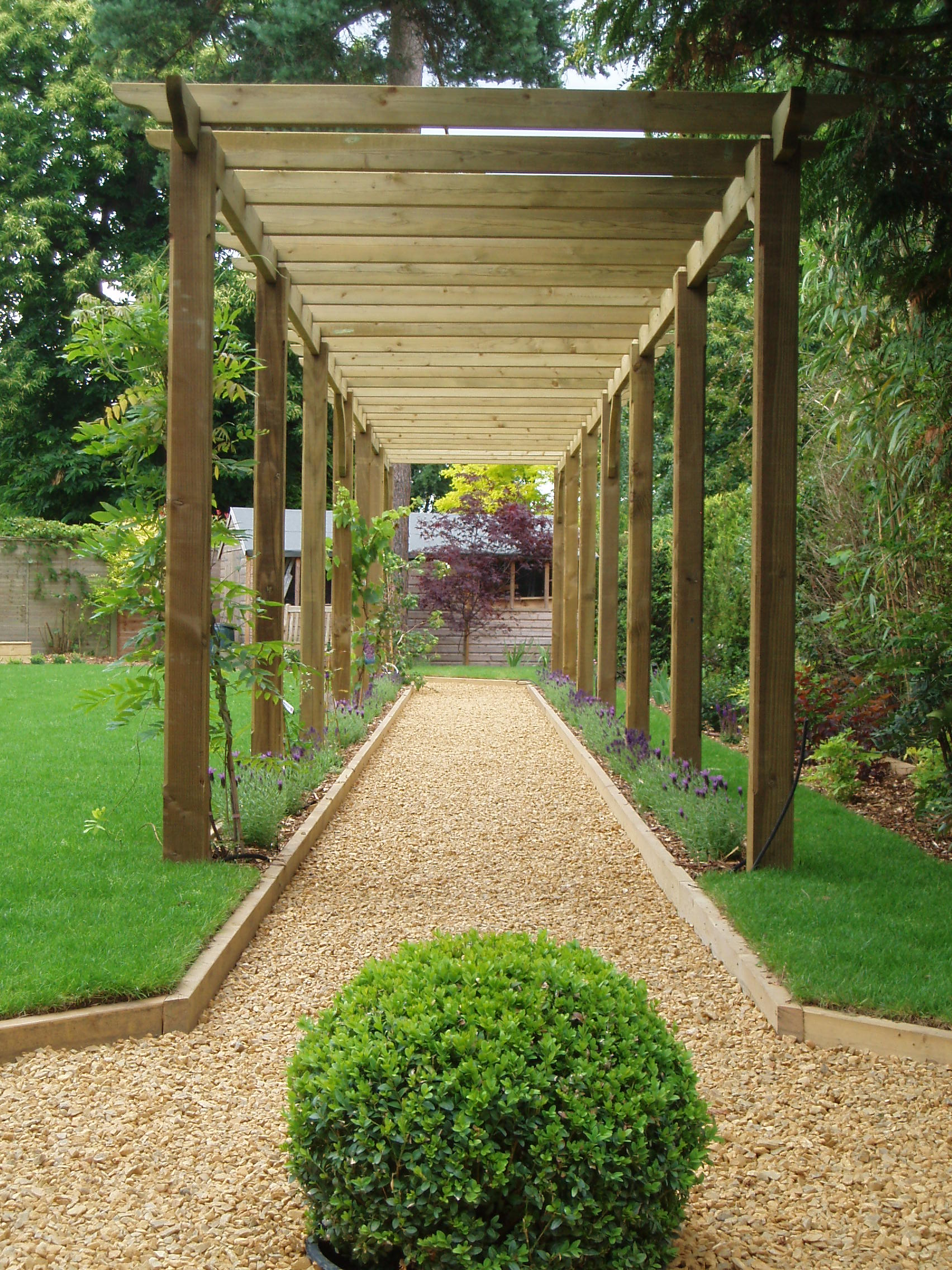 Adl timber structures pergolas garden landscaping for Garden design kits